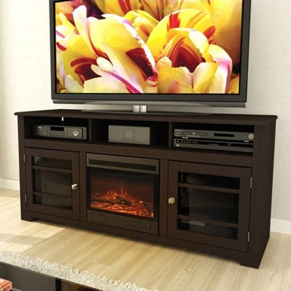 Corliving Electric Fireplace in Black 1