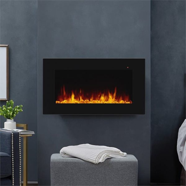 Corretto 40 Inch Electric Wall Hung Fireplace 1