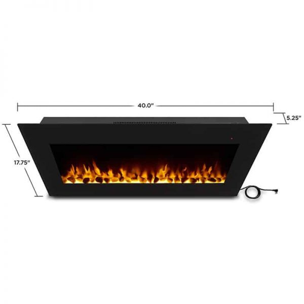 Corretto 40 Inch Electric Wall Hung Fireplace 18