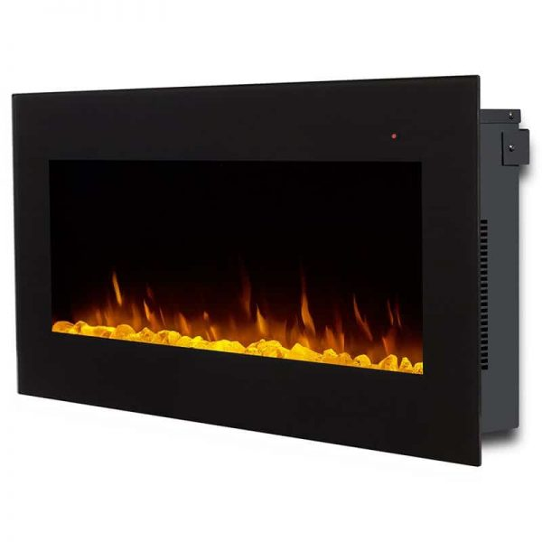 Corretto 40 Inch Electric Wall Hung Fireplace 2