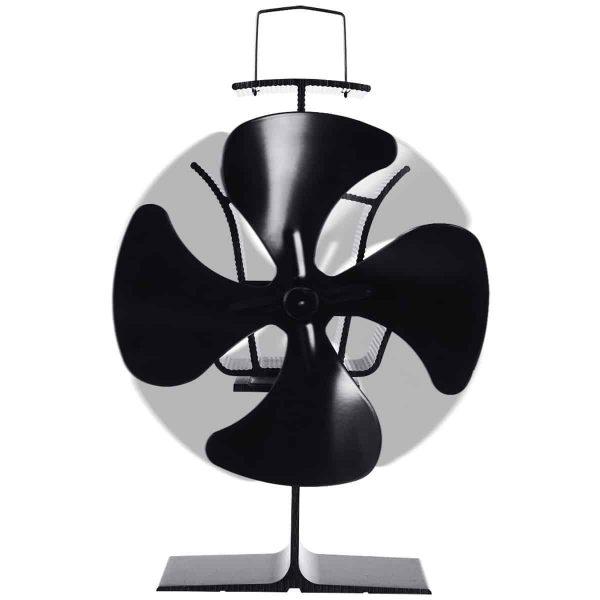 Costway 4 Blades Fireplace Stove Fan Fuel Saving Heat Powered Wood Burner Eco USB 3