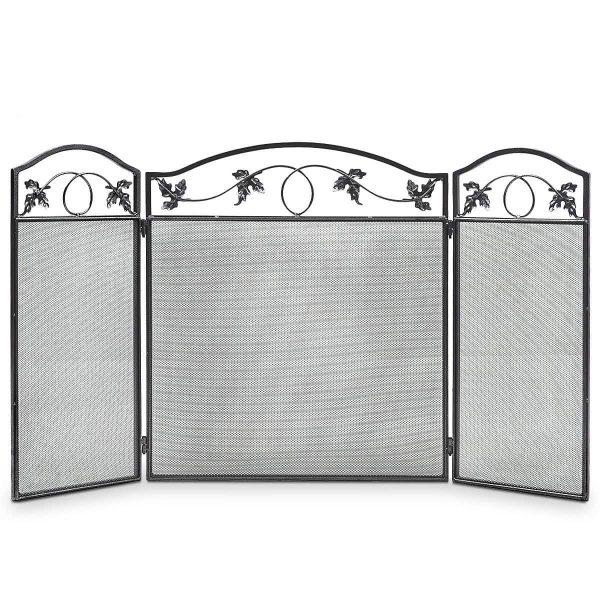 Costway Folding Steel Fireplace Screen Doors 3 Panel Heavy Duty Home Furni Decor Fire 4