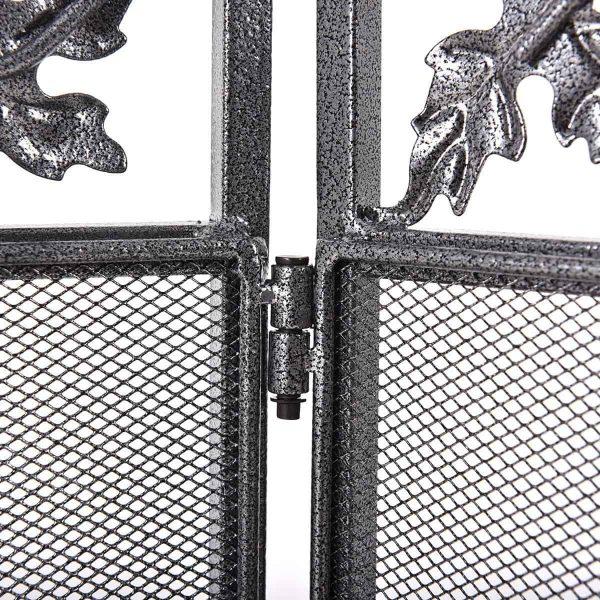 Costway Folding Steel Fireplace Screen Doors 3 Panel Heavy Duty Home Furni Decor Fire 9