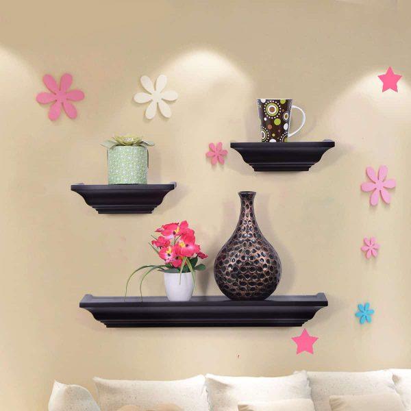 Costway Set of 3 Fireplace Mantel Shelf Ledge Floating Wall Mounted Shelves Decoration 1