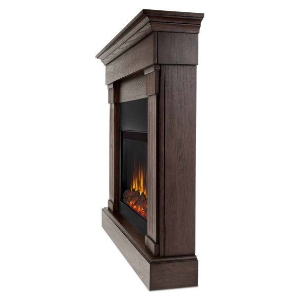 Crawford Slim Line Electric Fireplace in Chestnut Oak by Real Flame 1