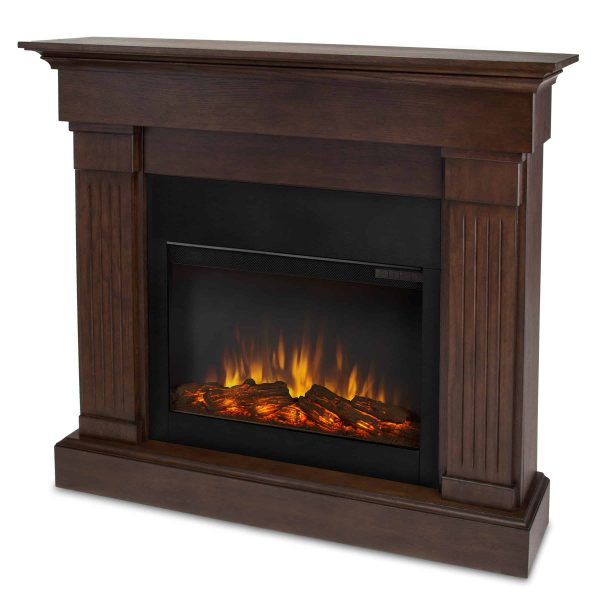 Crawford Slim Line Electric Fireplace in Chestnut Oak by Real Flame 2