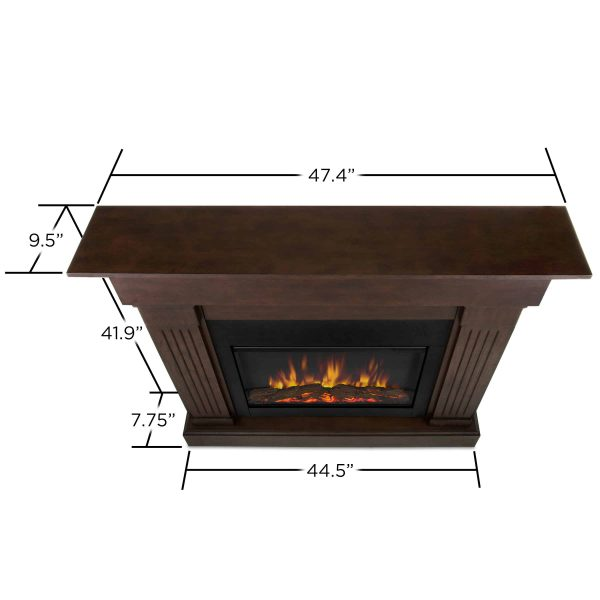 Crawford Slim Line Electric Fireplace in Chestnut Oak by Real Flame 3
