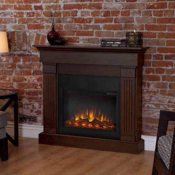 Crawford Slim Line Electric Fireplace in Chestnut Oak by Real Flame