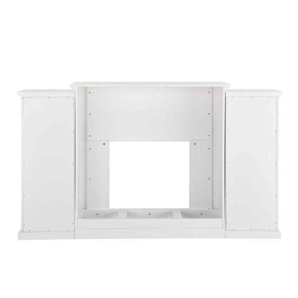 Crayfire Bookcase Electric Fireplace, White 2