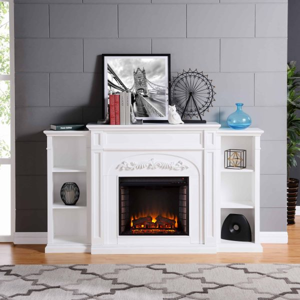 Crayfire Bookcase Electric Fireplace