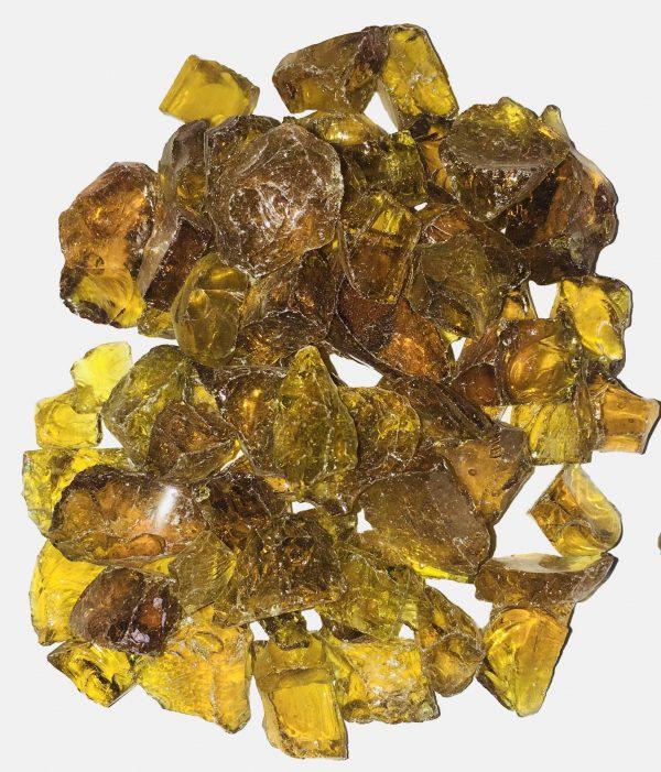 Crystal Amber Fire Glass Rocks