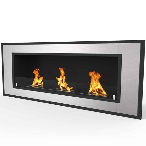 "Cynergy 50"" Ventless Built In Wall Recessed Bio Ethanol Wall Mounted Fireplace Similar Electric Fireplaces, 1"