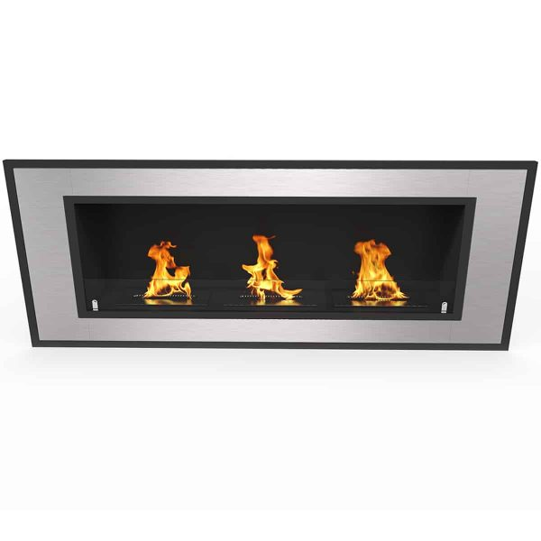 "Cynergy 50"" Ventless Built In Wall Recessed Bio Ethanol Wall Mounted Fireplace Similar Electric Fireplaces, 2"