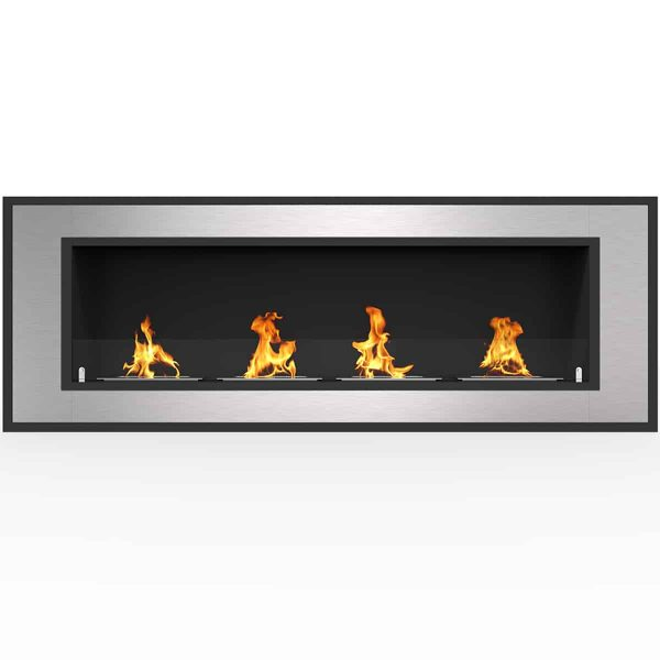"Cynergy 50"" Ventless Built In Wall Recessed Bio Ethanol Wall Mounted Fireplace Similar Electric Fireplaces"