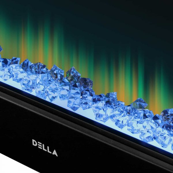 """DELLA 36"""" Electric 1400W Fireplace Heater Wall Mounted Includes Remote Control with Adjustable Heat, Flame and Timer 2"""