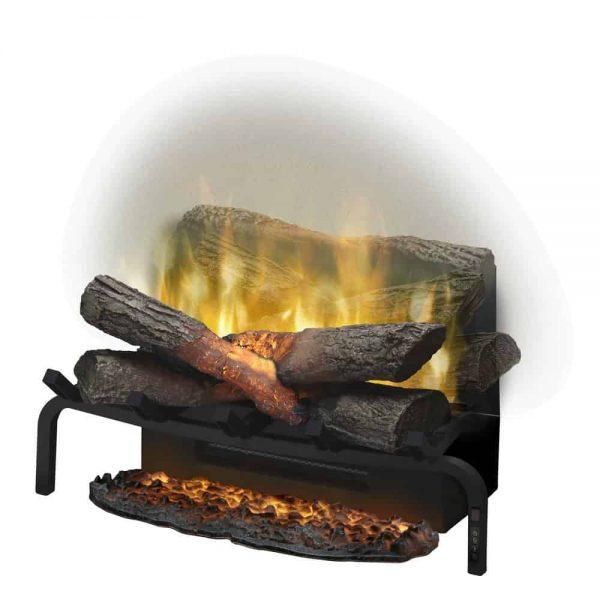 DIMPLEX Revillusion Electric Fireplace Log Set with Ashmat - RLG20 & REM-KIT