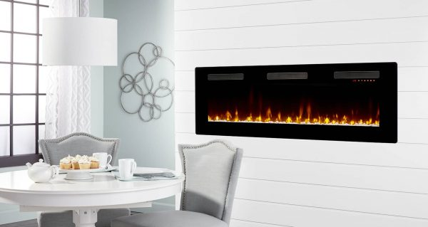 "DIMPLEX Sierra 60"" Wall/Built-In Linear Fireplace 1"
