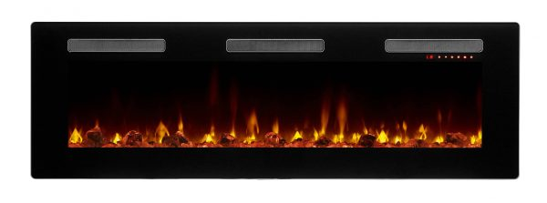 "DIMPLEX Sierra 60"" Wall/Built-In Linear Fireplace 6"