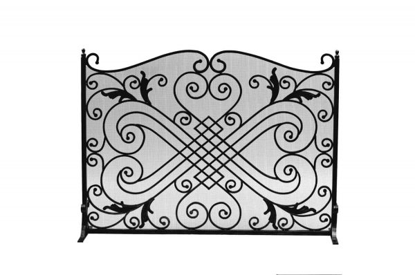 Dagan Black Arched Fireplace Screen