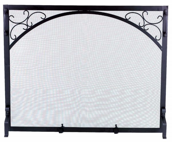 Dagan Black Wrought Iron Fireplace Screen