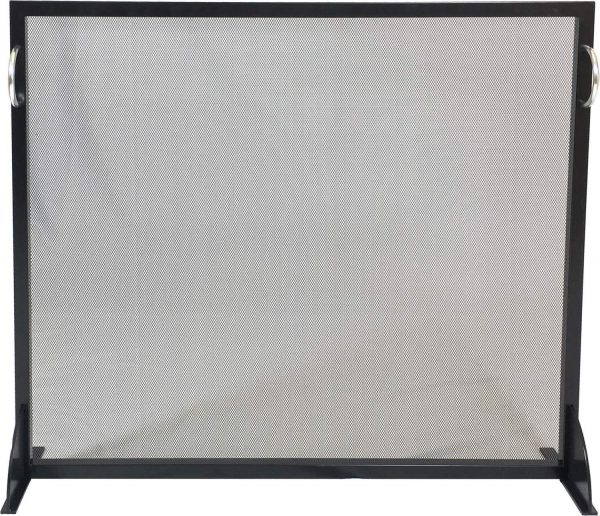 Dagan Black and Stainless Steel Fireplace Screen