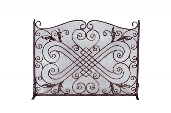 Dagan Copper and Black Arched Fireplace Screen