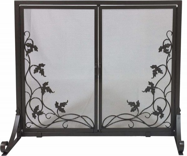 Dagan Fireplace Screen with Doors with Vine Design