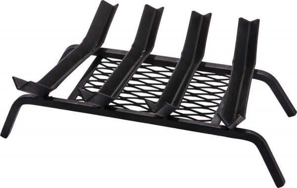 Dagan Five Bar V-Groove Design Grate with Welded Ember Retainer