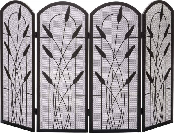 Dagan Four Fold Arched Fireplace Screen with Cotton Tail Design