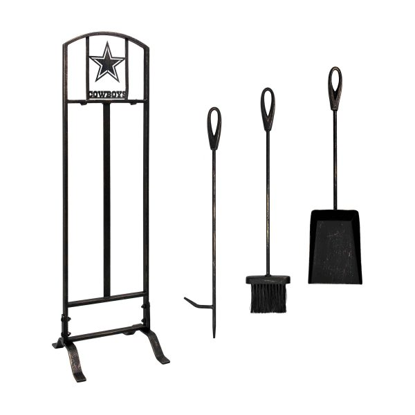 Dallas Cowboys Imperial Fireplace Tool Set - Brown 1
