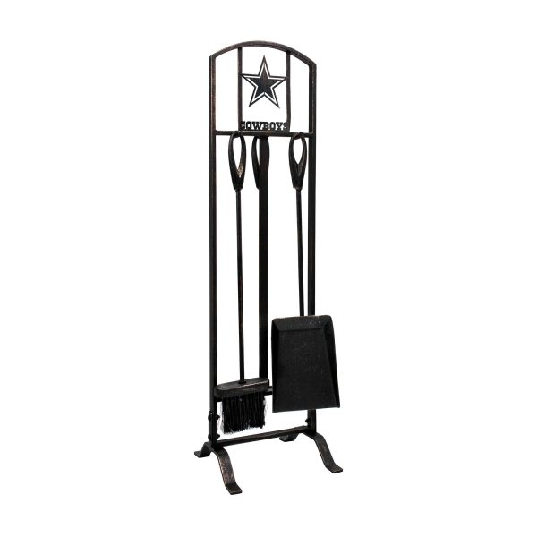 Dallas Cowboys Imperial Fireplace Tool Set - Brown