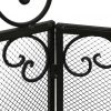 De Leon Collections 3 Panel Metal Fireplace Screen 5
