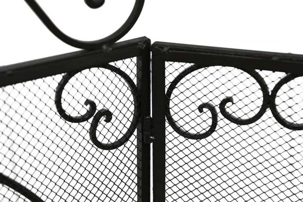 De Leon Collections 3 Panel Metal Fireplace Screen 2