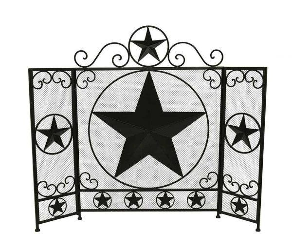 De Leon Collections 3 Panel Metal Fireplace Screen 3