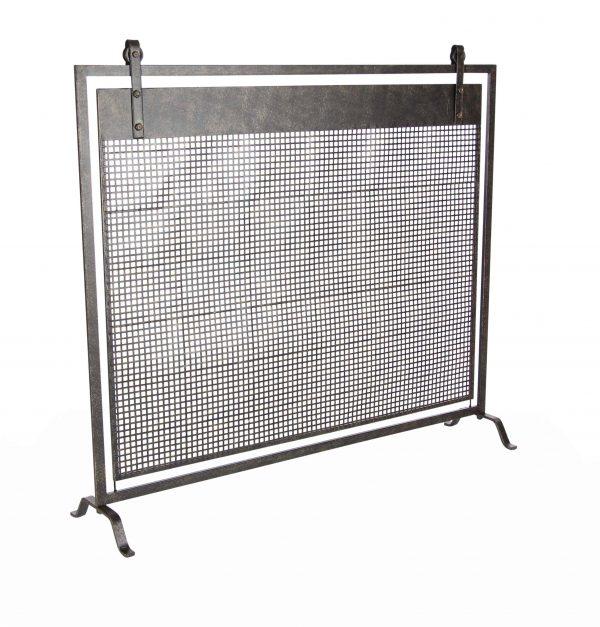 Decmode Contemporary 35 X 38 Inch Iron Mesh Fireplace Screen