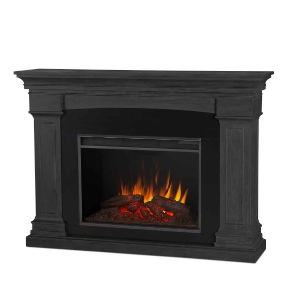 Deland Grand Electric Fireplace in Gray by Real Flame 1