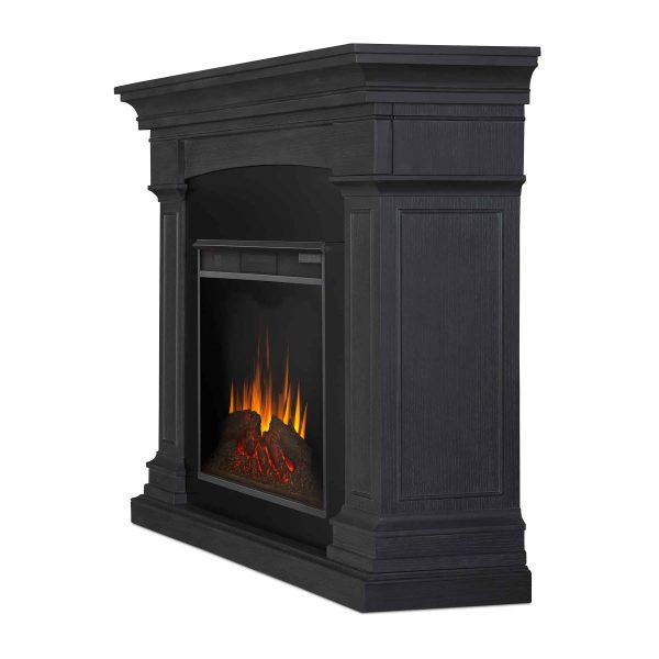 Deland Grand Electric Fireplace in Gray by Real Flame 2