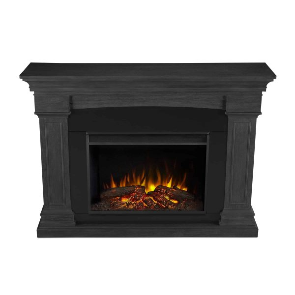 Deland Grand Electric Fireplace in Gray by Real Flame 3
