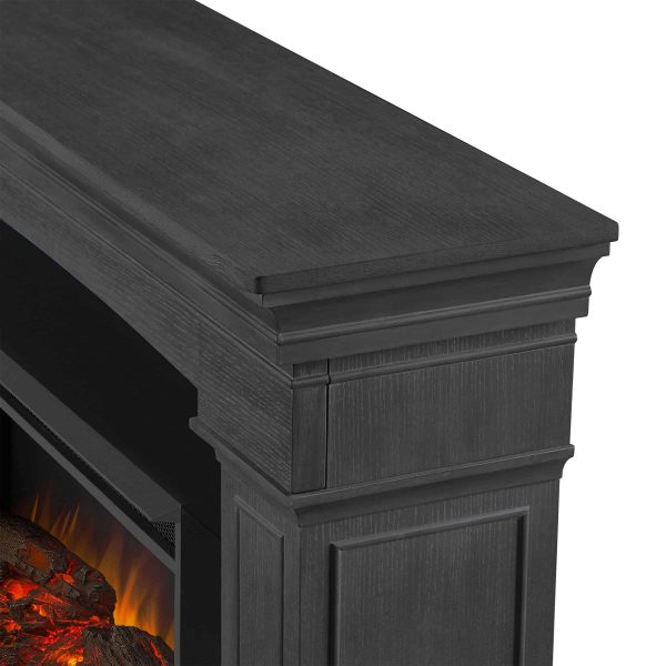 Deland Grand Electric Fireplace in Gray by Real Flame 4
