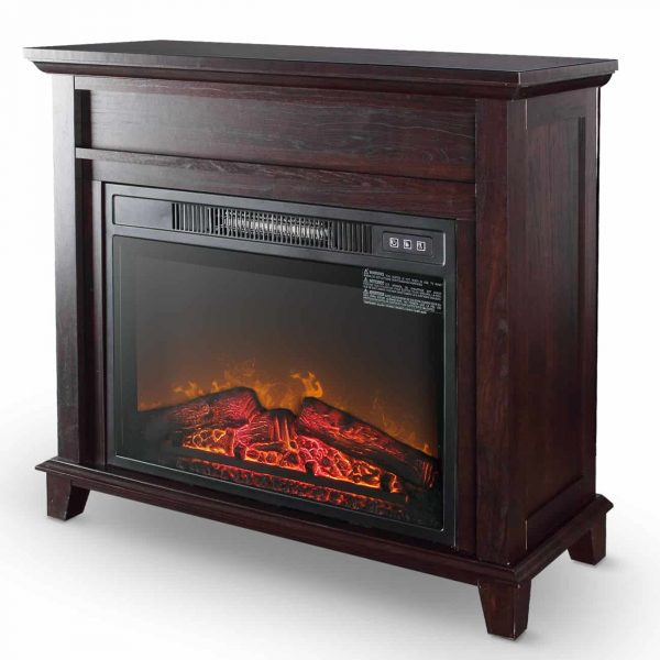 "Della 28"" Infrared Fireplace Stove Heater 3D Adjustable Flame Effect with Remote Control"