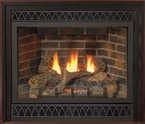 """Deluxe 48"""" Direct-Vent NG Millivolt Fireplace with Blower"""