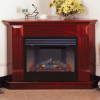 Deluxe Electric Corner Fireplace With Remote Control - Cherry Finish
