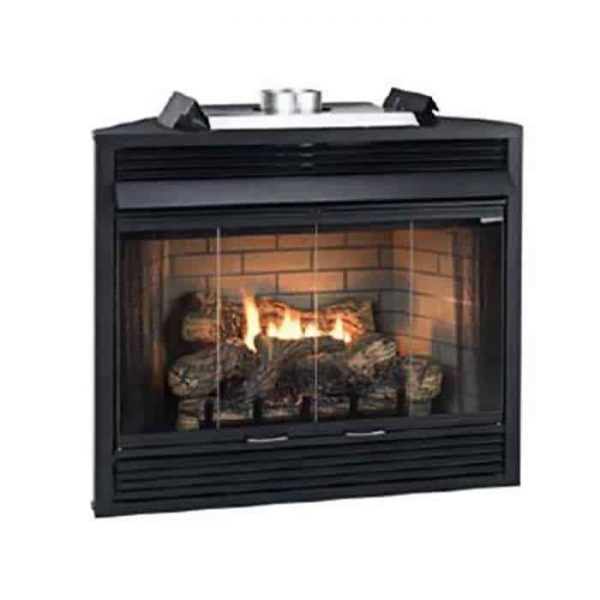 "Deluxe MV 34"" Louver B-Vent Fireplace - Natural Gas"