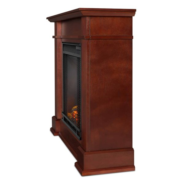 Devin Electric Fireplace in Dark Espresso by Real Flame 1