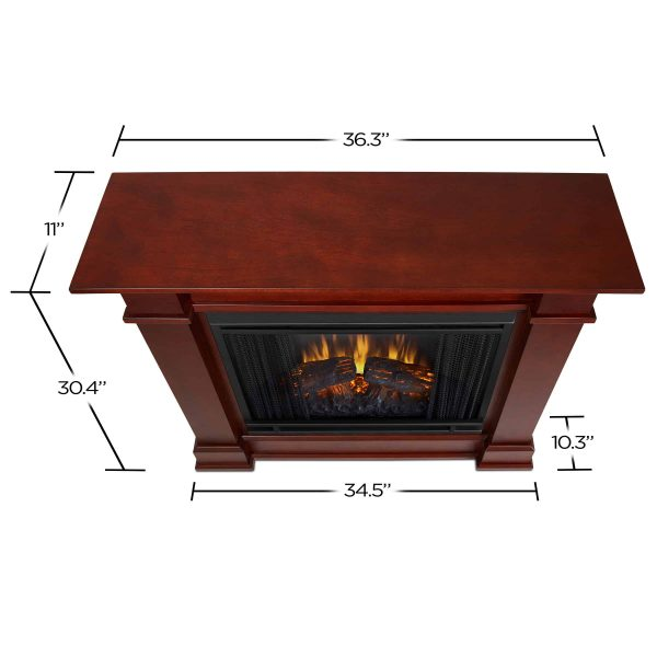 Devin Electric Fireplace in Dark Espresso by Real Flame 3