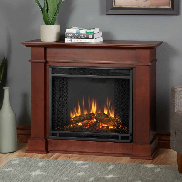 Devin Electric Fireplace in Dark Espresso by Real Flame