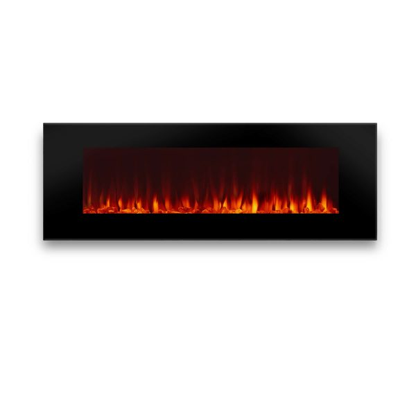 DiNatale Wall-Mounted Electric Fireplace in Black by Real Flame 1