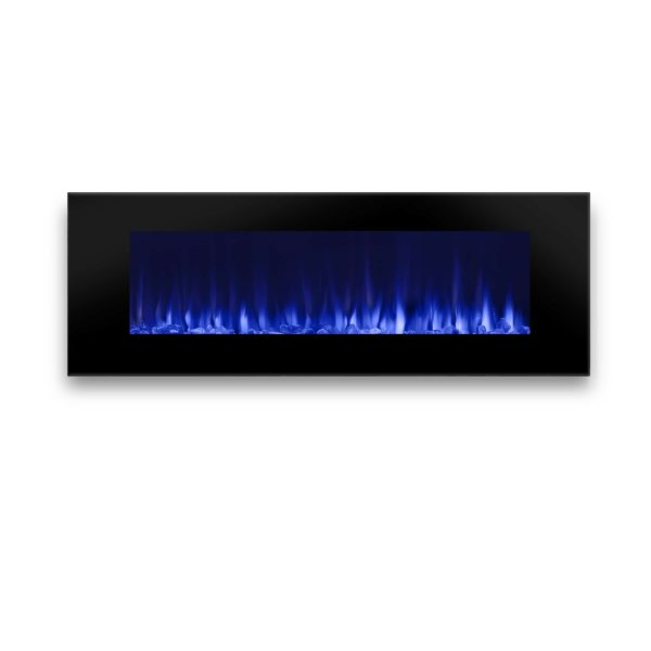 DiNatale Wall-Mounted Electric Fireplace in Black by Real Flame 2