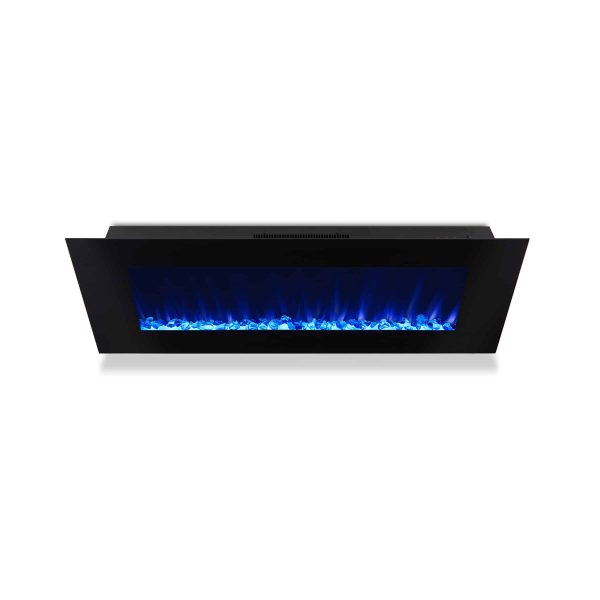 DiNatale Wall-Mounted Electric Fireplace in Black by Real Flame 4