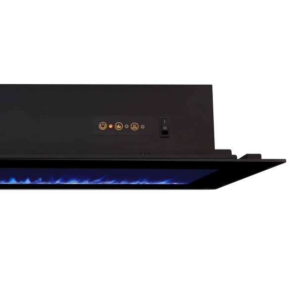 DiNatale Wall-Mounted Electric Fireplace in Black by Real Flame 6